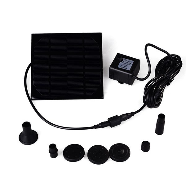 Wholesale- Hot Sale Water Pump Power Panel Kit Fountain Brushless DC Solar Pool Garden Watering Pumb Plants Water Power Fountain Pool