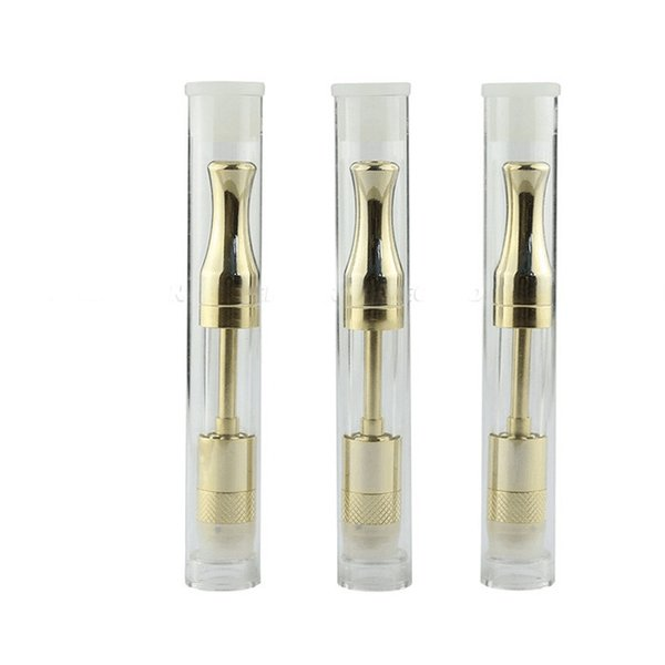 fairy tank thick Oil Thick e cig 510 Gold Stainless Steel Pyrex Glass Tank glass eliquid oil Cartridge O Vape Pen atomizer