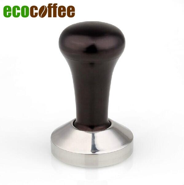 Caffè Espresso Spedizione Gratuita 1 PZ MANIGLIA ALLUMINIO Nero Tamper caffè in acciaio inox 49 51 53 54 55 57 58MM