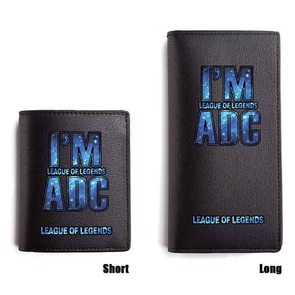Game LOL Wallet OMG WE PU Short Wallet Black Long Purse Men Carteira Game Heroes Wallets for Boys and Girls