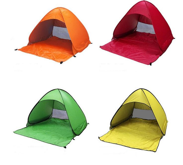 top popular SimpleTents Easy Carry Tents Outdoor Camping Accessories for 2-3 People UV Protection Tent for Beach Travel Lawn shelter Colorful Tents 2021