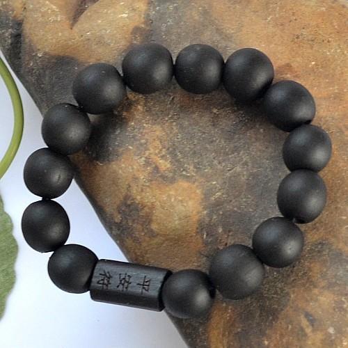 Gros-2016 Hommes Bracelet Bracelet Bouddhiste Tibétain Décor Prière 10 MM Perles Ornement de Bois Bois Bouddha Perles Femmes Bijoux Religion Charme