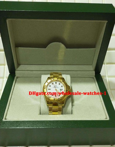 Christmas gift swiss Luxury watches Original box certificate Automatic mens watch 40mm 18k Yellow Gold White Dial 16628 Bezel