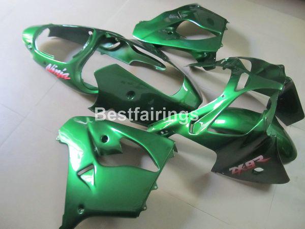 Kawasaki Ninja ZX9R 2000 2001 yeşil motosiklet grenaj seti Fairing Yeni sıcak vücut parçaları ZX9R 00 01 PJ53 set