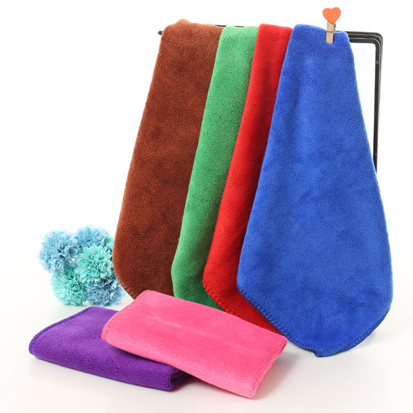 Microfiber cleaning cloth for home and car 7 colors available size 30cm*30cm thicken water absorbing ablility