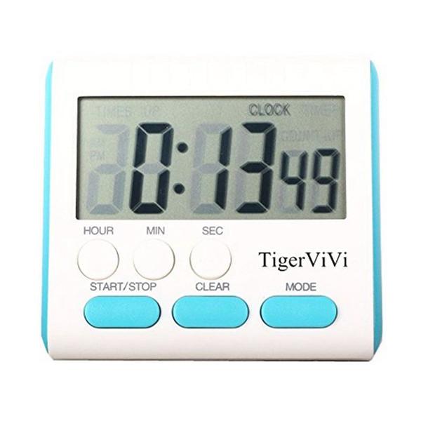 Fácil de usar LCD Digital Kitchen Timer Cozinhar Ferramentas Countdown Alarm Count Up Down Despertador