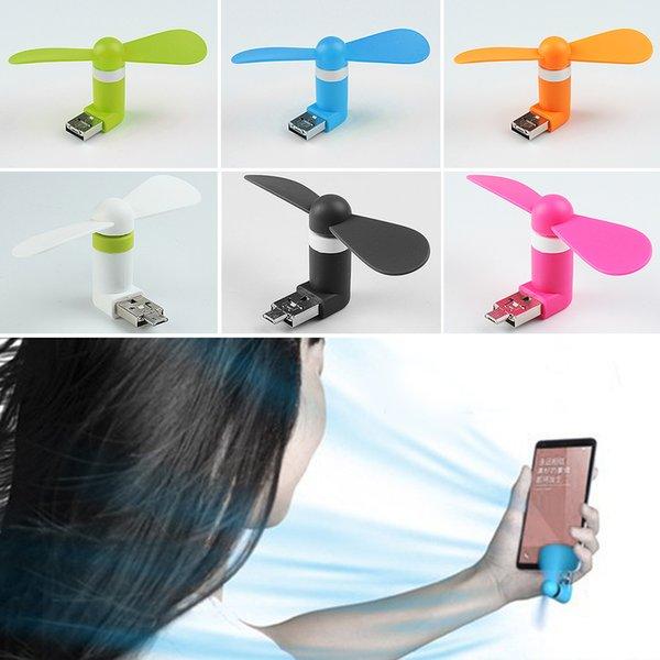 Toptan Satış - Taşınabilir OTG Mini Mikro USB Büyük Rüzgar Android Cep Telefonları Masaüstü Laptop Fabrika Fiyat Için Fan Soğutma