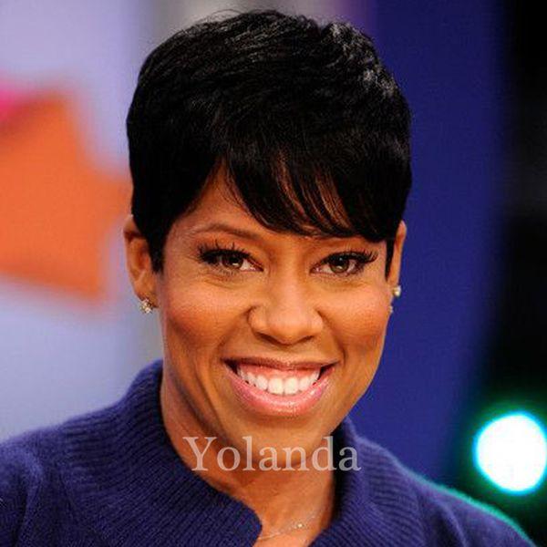 130% Density Full Lace Human Hair Wigs for Black Women Short Chic Cut Wigs Soft Brazilian Human Hair Rihanna Wigs