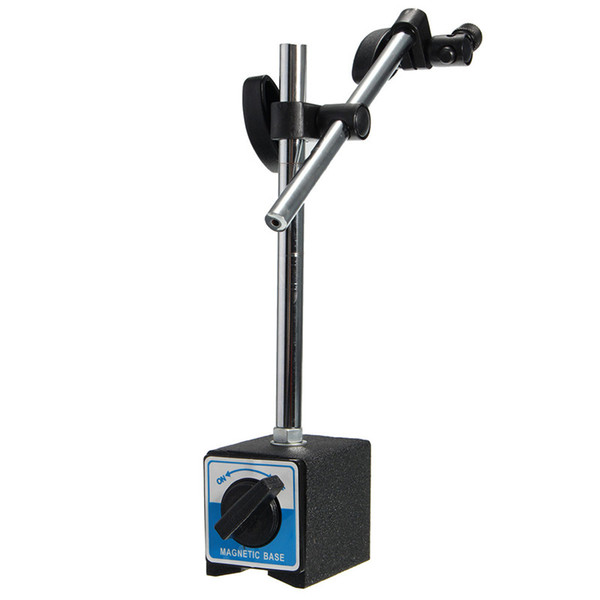 top popular Freeshipping New Magnetic Base Holder With Double Adjustable Pole For Dial Indicator Test Gauge Base Pull 30kg (Max) 2021
