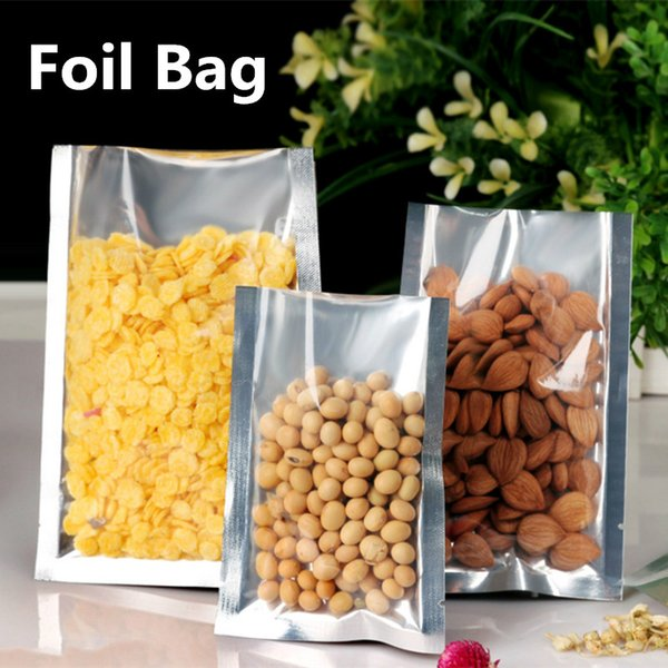12x17cm Vacuum Cooked Food Heat Sealing Mylar Aluminum Foil Packaging Bags Smell Proof Laminating Package Snacks Translucent Showcase Pouch