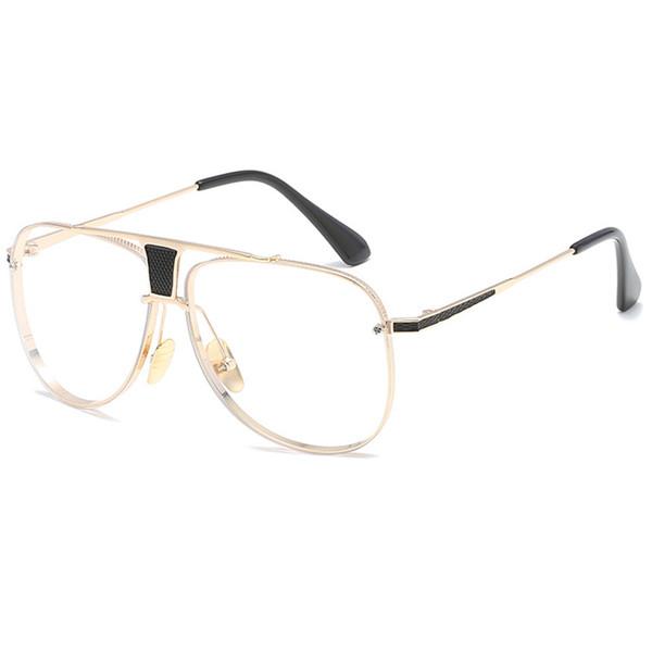 C7 Gold Frame Clear Lens