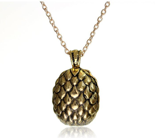 free shipping Europe and the United States hot game dragon egg pendant necklace a song of ice and fire power #3043