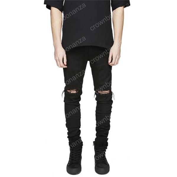 New High Street Biker Jeans Swag Mens Designer Ripped Washed Vintage Destroyed Slim Fit Hipsters With Holes Denim pants