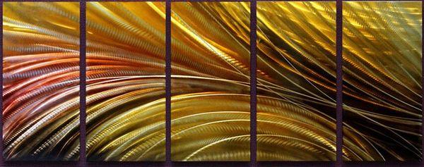 Grosshandel 100 Handwerk Aluminium Metall Wand Kunst Abstrakte