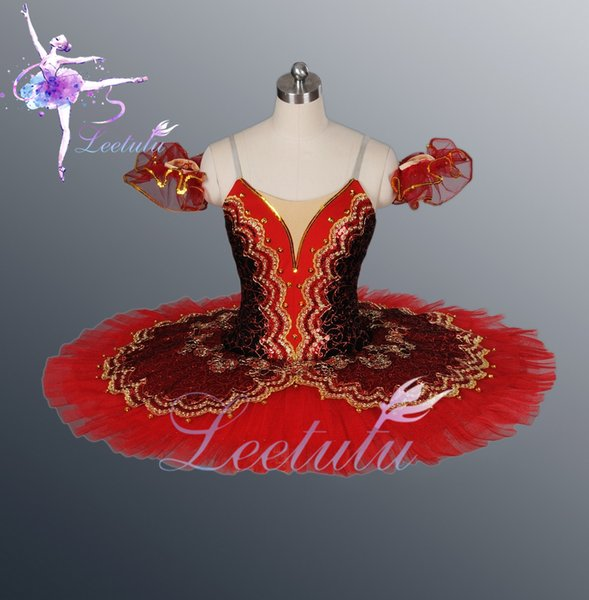 Hot sale Adult Ballerina Dresses Red Professional classical Ballet Tutu for big theatre performace, free shipping