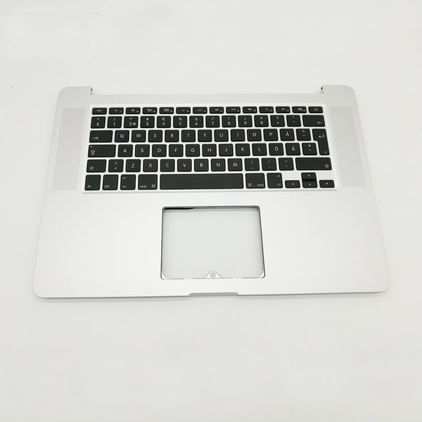"Brand New For MacBook Pro Retina 15"" A1398 SE Swedish Sweden topcase keyboard Top Case Palmrest 2015 2016 Years"
