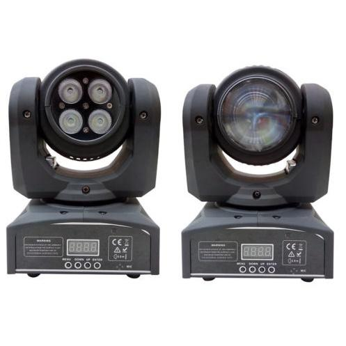 Professional Stage Lighting Mini Double Face Two Sides 4in1 RGBW 4*10w Wash + 10w Beam LED Moving Head