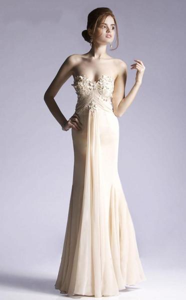 Cheap Champagne Evening Prom Dress 2017 Sexy Long Elegant Plus ...