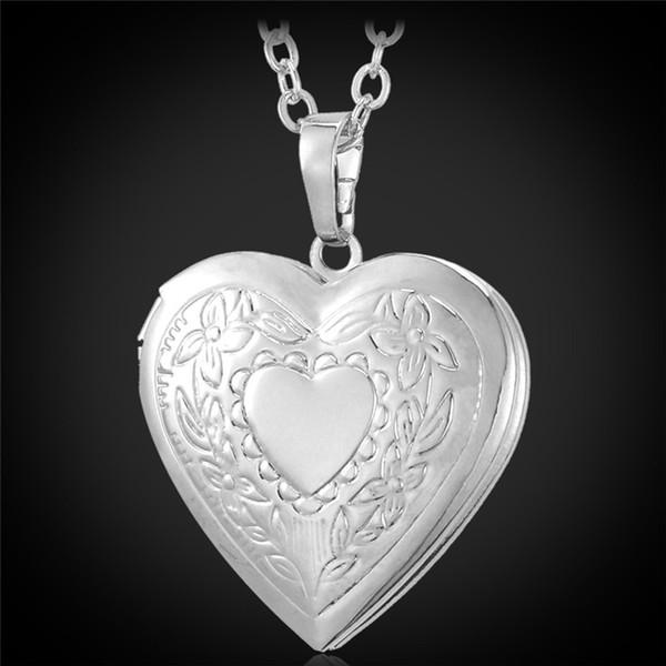 Placcato platino-doppio cuore