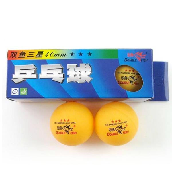 Atacado-Original 30 peças de Double Fish 3-star (3 estrelas, 3 estrelas) 40mm ténis de mesa / bolas de pingue-pongue