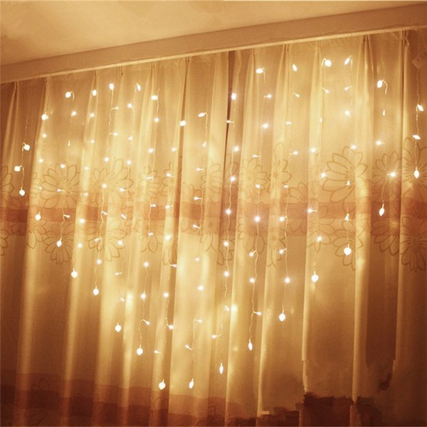 Wholesale-2M x 1.5m Heart Shape 124 Hearts LED String Holiday Party ...