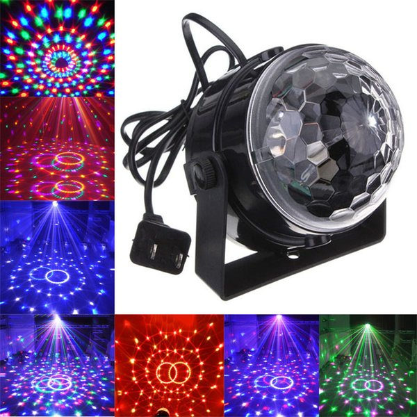 LED Mini Rotating lamp Magic Ball Party Light Disco Stage Lighting RGB Colorful Disco DJ Party KTV Stage Light laser Light