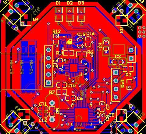 Vier Wellen AirPlane Bluetooth-Modul HM-06 HM-07 MPU6050 HMC5883 STM32F103T8U6 Schaltplan und PCB Diy Kit Motorsteuerplatine