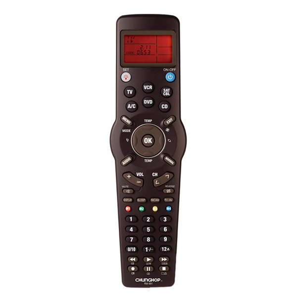 Wholesale-Hot Sale Universal Chunghop RM-991 TV/SAT/DVD/CBL/CD/AC/VCR Learning Function CCAC Multifunction Remote Control