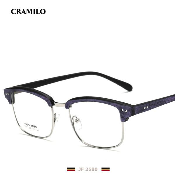 Toptan-Rita perçin kare gözlük çerçeveleri erkekler şeffaf len yarı çerçevesiz gözlük çerçevesi JF2580 bilgisayar kadınlar vintage klasik unisex gözlük