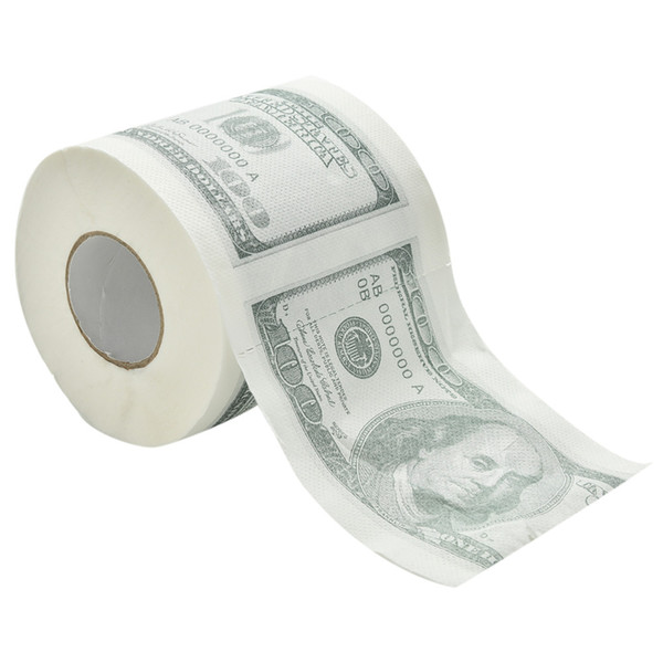 top popular Wholesale- ZZIDKD 1Hundred Dollar Bill Printed Toilet Paper America US Dollars Tissue Novelty Funny $100 TP 2021