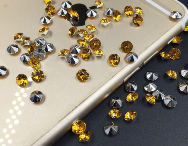 10000 pcs 4mm Amarelo Acrílico Diamante Confetti Wedding Party Table Scatters Decoração De Cristal