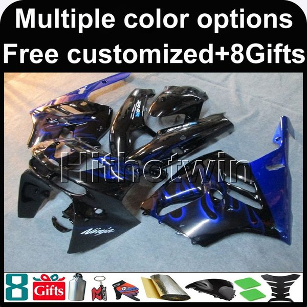 23colors+8Gifts blue cover kit motorcycle cowl for Kawasaki ZX9R 1994-1997 ZX9R 94 95 96 97 ABS Plastic Fairing