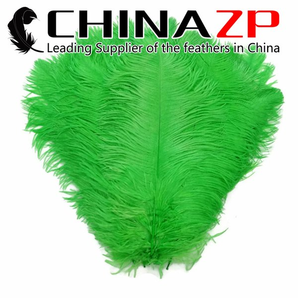 Made in CHINAZP Factory Size from 18inch to 20inch (45~50cm) Dyed Light Green Ostrich Plume Feathers for Sale