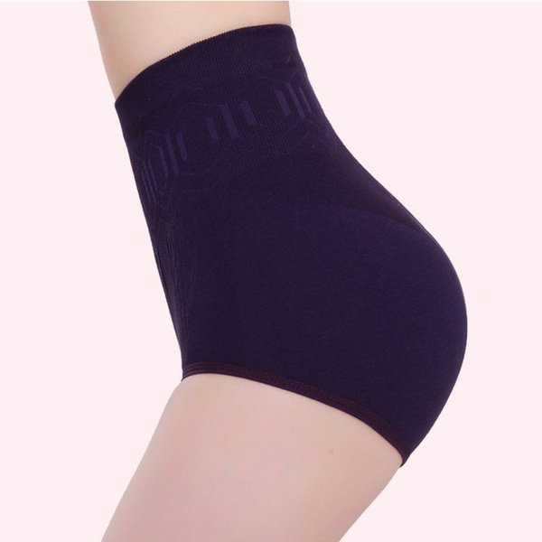 Wholesale- Alimoo High-Waist Seamless Cotton Shapers Panty High Elastic Control Panties Ladies Briefs Lingerie Underwear 6 Colors