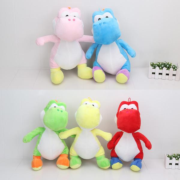 40 cm 5 colores Super Mario Bros Yoshi de peluche de juguete de peluche suave muñeca de juguete para los niños regalo de juguete