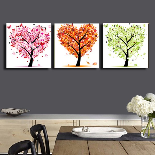 3 Pcs/Set abstract tree HD Picture Home Wall Decor Canvas Print Painting For House Decorate Without #82