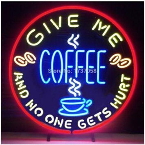 Bana Kahve Vermek Kimse Canını Alır Neon Burcu Özel El Yapımı Gerçek Cam Pub Bar KTV Kulübü Mağaza Ekran Neon İşaretler 18