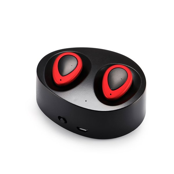Best quality TWS K2 Bluetooth Earphones True Wireless Mini Stereo Earphone with Charging Socket for iphone 7 Samsung s8 xiaomi Smartphone