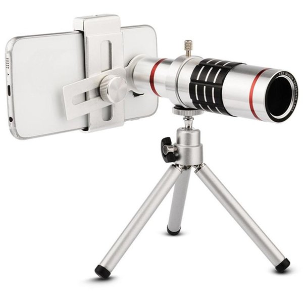 Universal Clip On 18X Telephoto Lens Mobile Phone Optical Zoom Telescope Camera For iPhone Sumgung HTC
