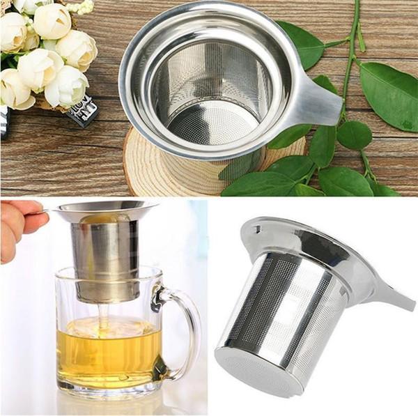 New Stainless Steel Mesh Tea Infuser Reusable Strainer Loose Tea Leaf Filter Coffee & Tea Tools DHL FEDEX Free
