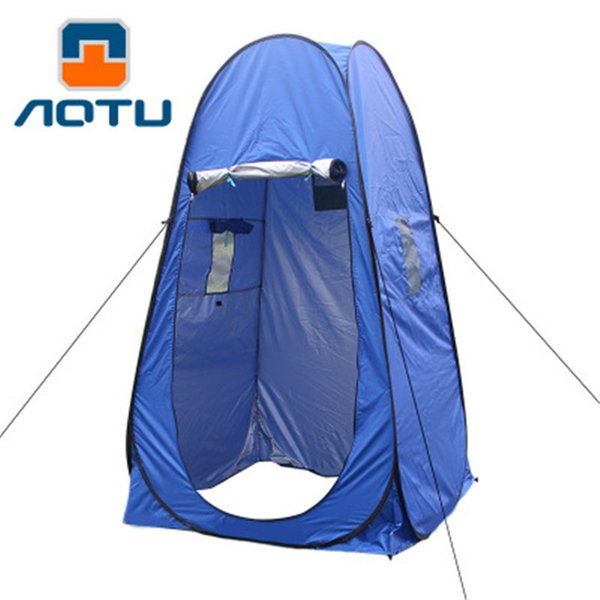 Portable Camping Shower Toilet Tent Shelter Waterproof Outdoor Shower Tent Privacy Change Fitting Bathroom Pop Up Mobile Toilet