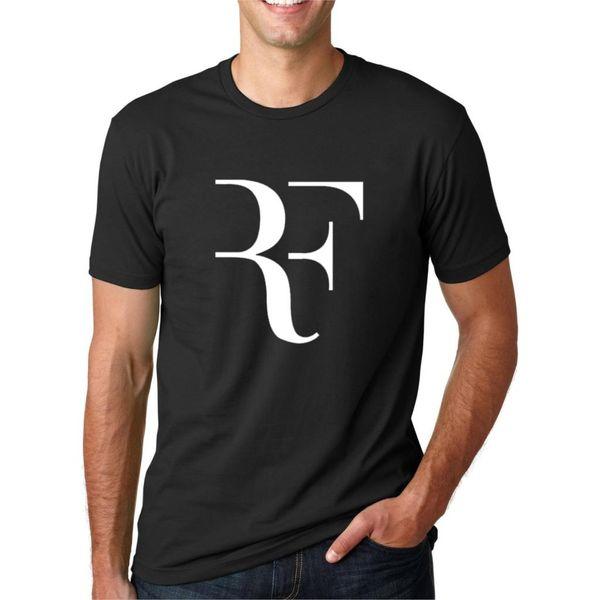 Carta de moda de verano Impreso camiseta de los hombres Roger Federer Fitness camiseta Homme Streetwear Hip Hop algodón Tops camiseta