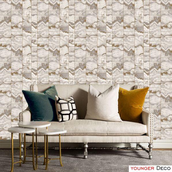 Wholesale-Non-Woven Wallpaper bricks tiles wall paper For Living Room Sofa Background Walls Home Wallpaper roll vintage wallpaper 3D effect