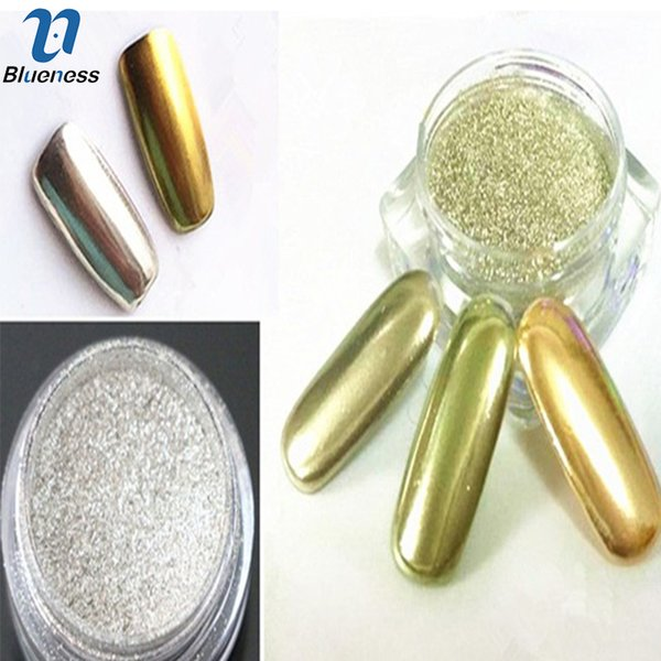 Gros-1g / Boîte Ongles Glitter Poudre Or Ruban Shinning Miroir Nail Art Chrome Miroir Poudre Manucure Pigment Glitters JH420