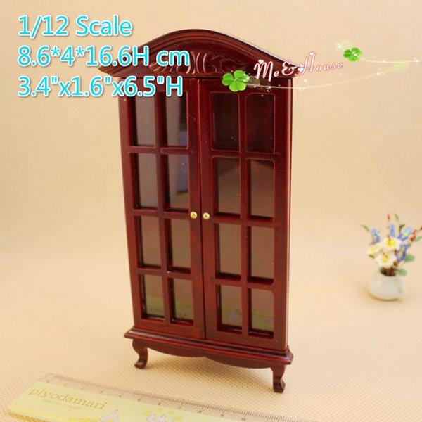 1:12 Dollhouse Miniatures Gradevin Corner china Cabinet Wine Cabinet ...