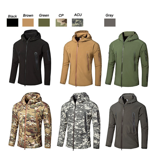 best selling Outdoor Sports Woodland Hunting Shooting Tactical Camo Coat Combat Clothing Camouflage Windbreaker Softshell Outdoor Jacket NO05-203