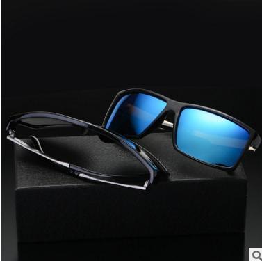 2017 Retro Vintage Mens Sunglasses Polarized Brand Designer Sun Glass Camo Black Color Unique UV400 Gafas 6624