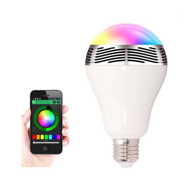 6w Altavoces inalámbricos Bluetooth Lámpara Colorida LED Bombillas Altavoces Audio Música Lámpara RGB Producto inteligente
