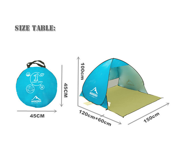 new beach tent pop up open 1-2person quick automatic open 90% UV-protective sunshelter awning tent for camping fishing