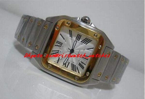 Orologi di lusso da polso Galbee XL uomo di alta qualità automatico 18kt oro giallo acciaio W20099C4 orologi da uomo